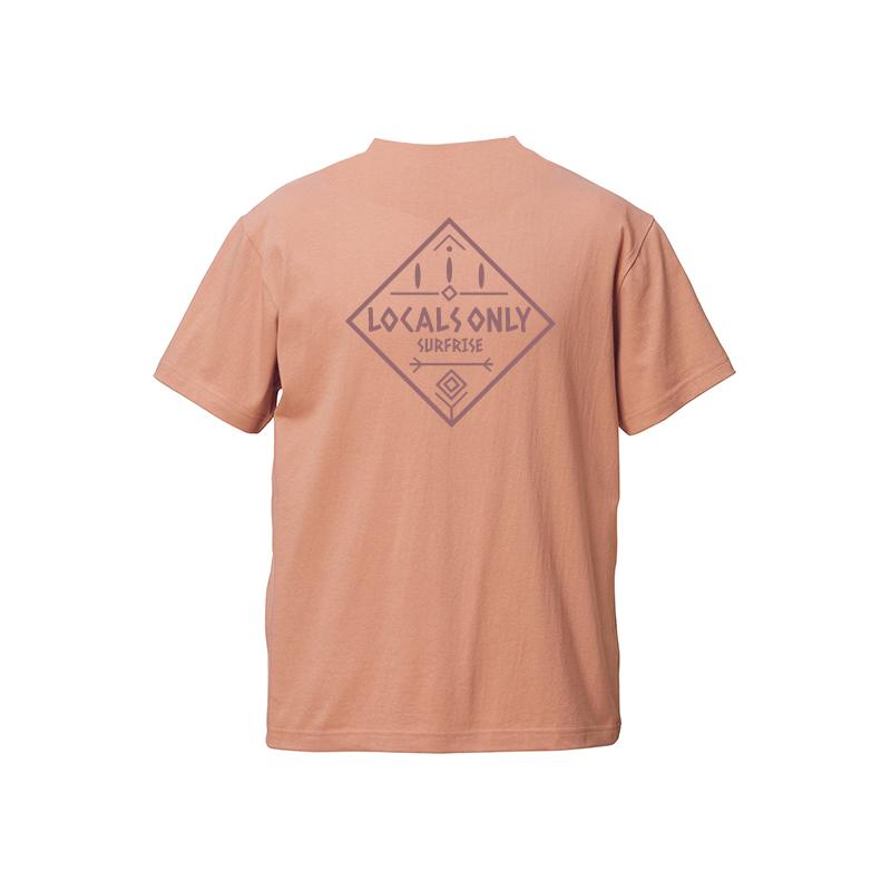 【予約:6月上旬〜中旬発送】LOCALS ONLY Tee - Coral beige