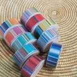 【LES TOILES DU SOLEIL】 マスキングテープ(パラソル ターコイズ ブラン/PARASOL Turquoise Blanc)