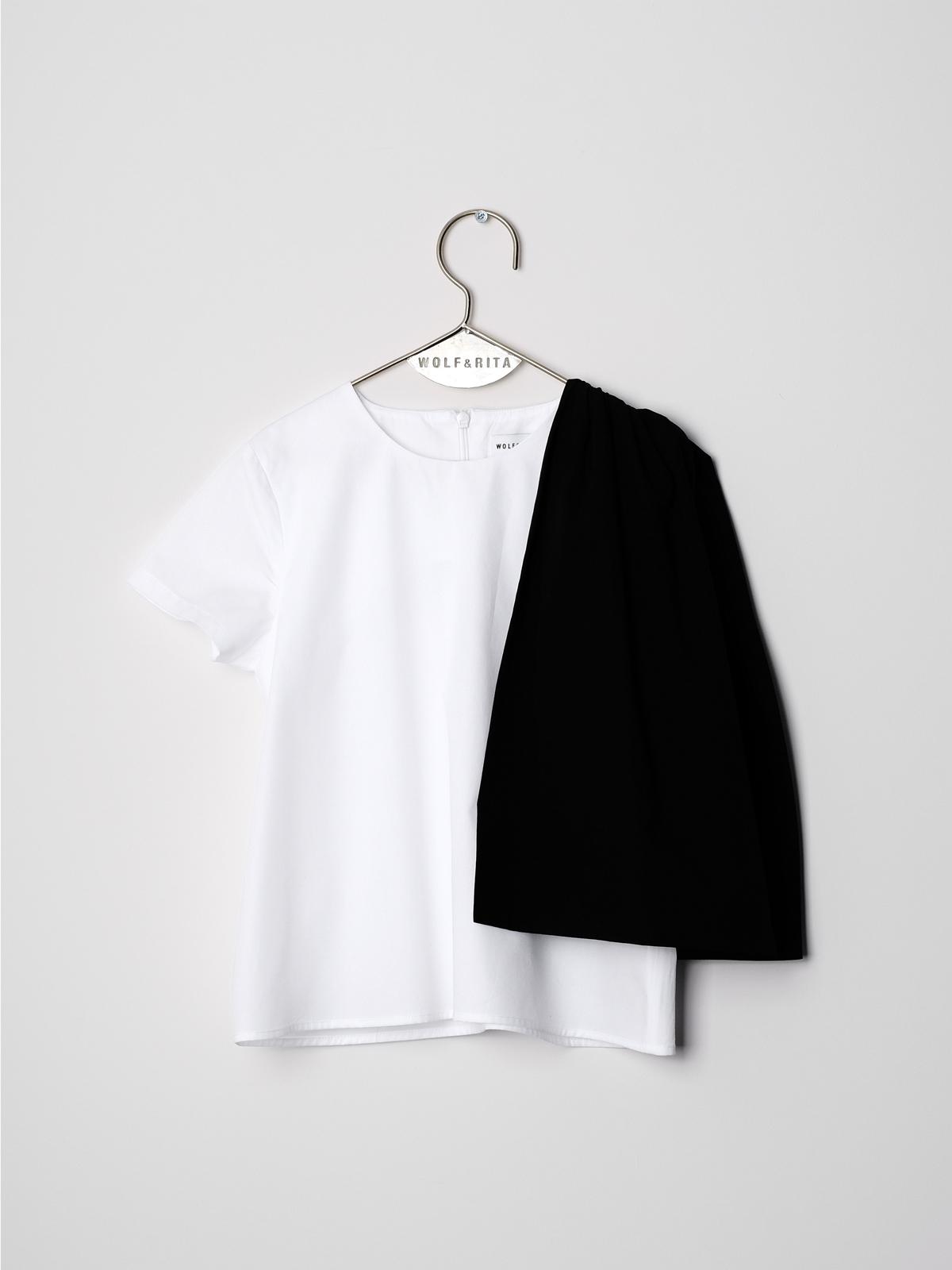 《WOLF & RITA 2018SS》ADELIA blouse / white × black(日本別注) / 2-8Y