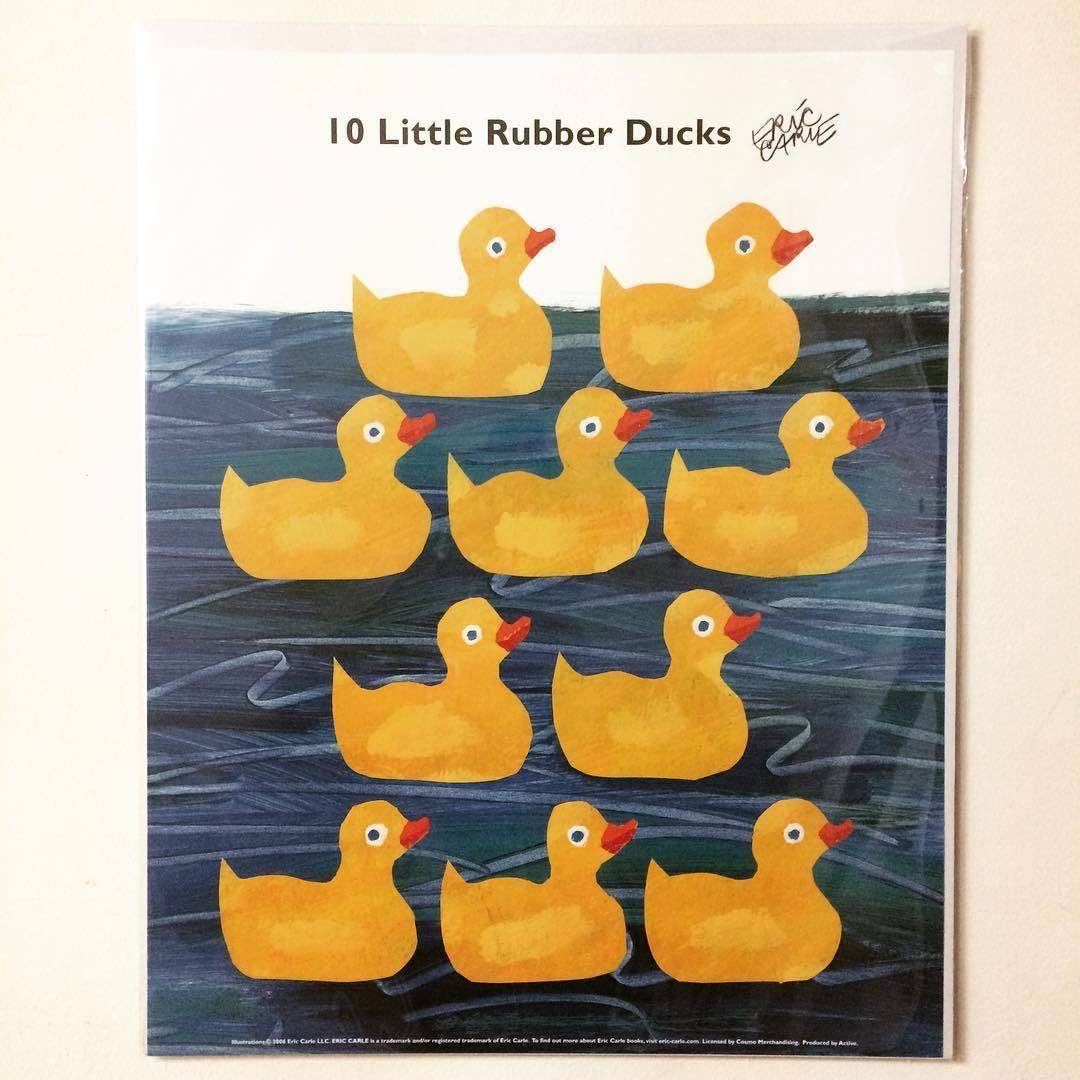 ポスター「エリック・カール 10このちいさなおもちゃのあひる」 - 画像1