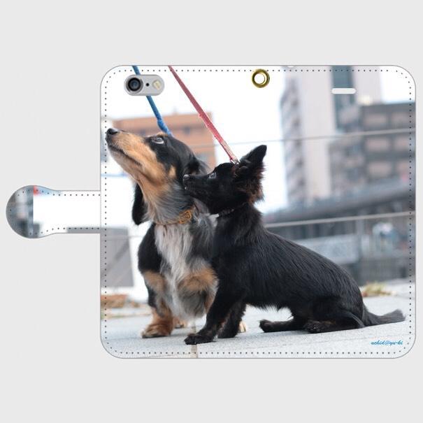 3759ce977b ダックスフンド チワワ 手帳型 スマートフォンケース iPhone6/iPhone6s 犬 iPhoneケース