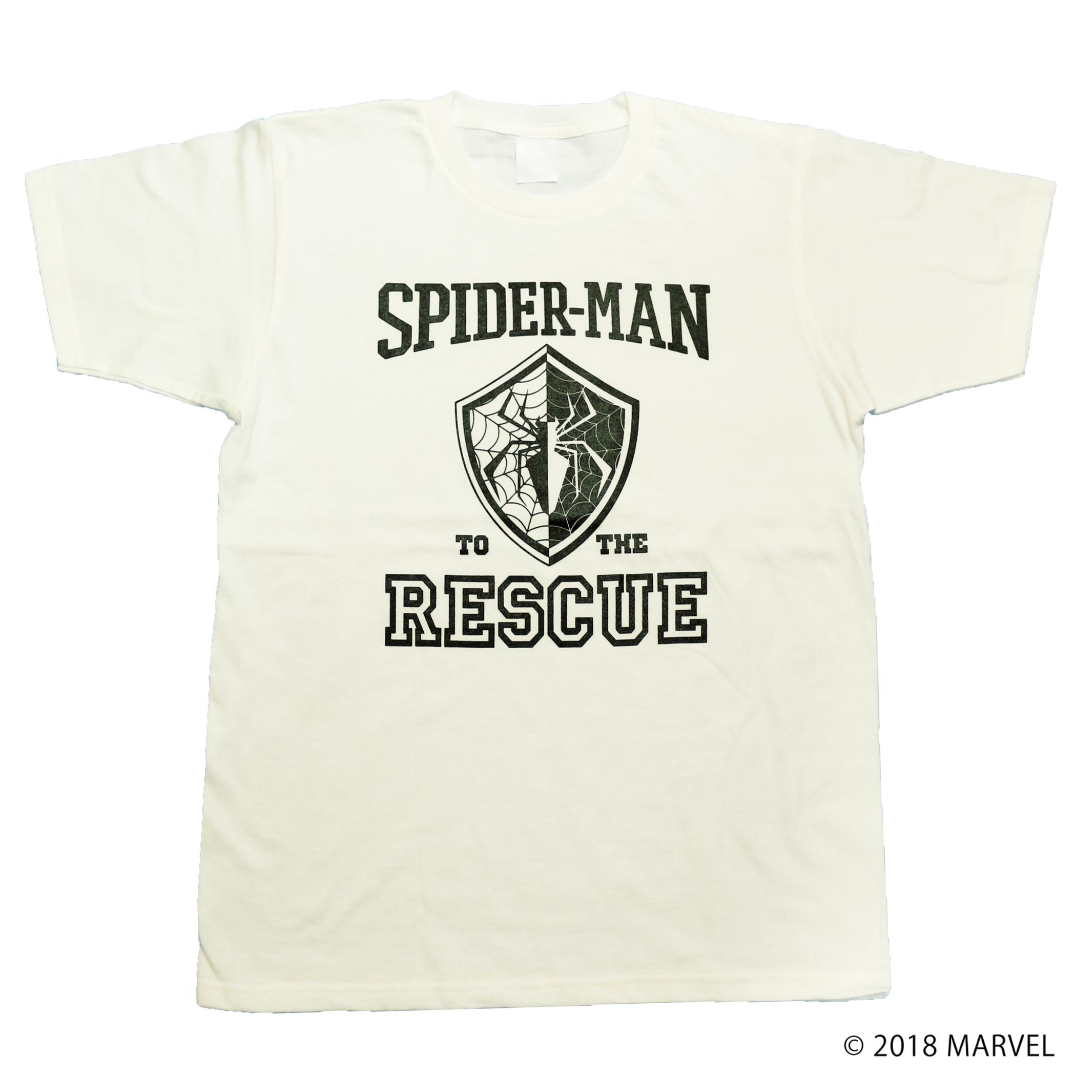 【マーベル】スパイダーマン|カレッジデザイン Tシャツ