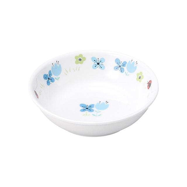 【1009-1330】強化磁器 9.8cm小皿 ブルーメ・ブルー