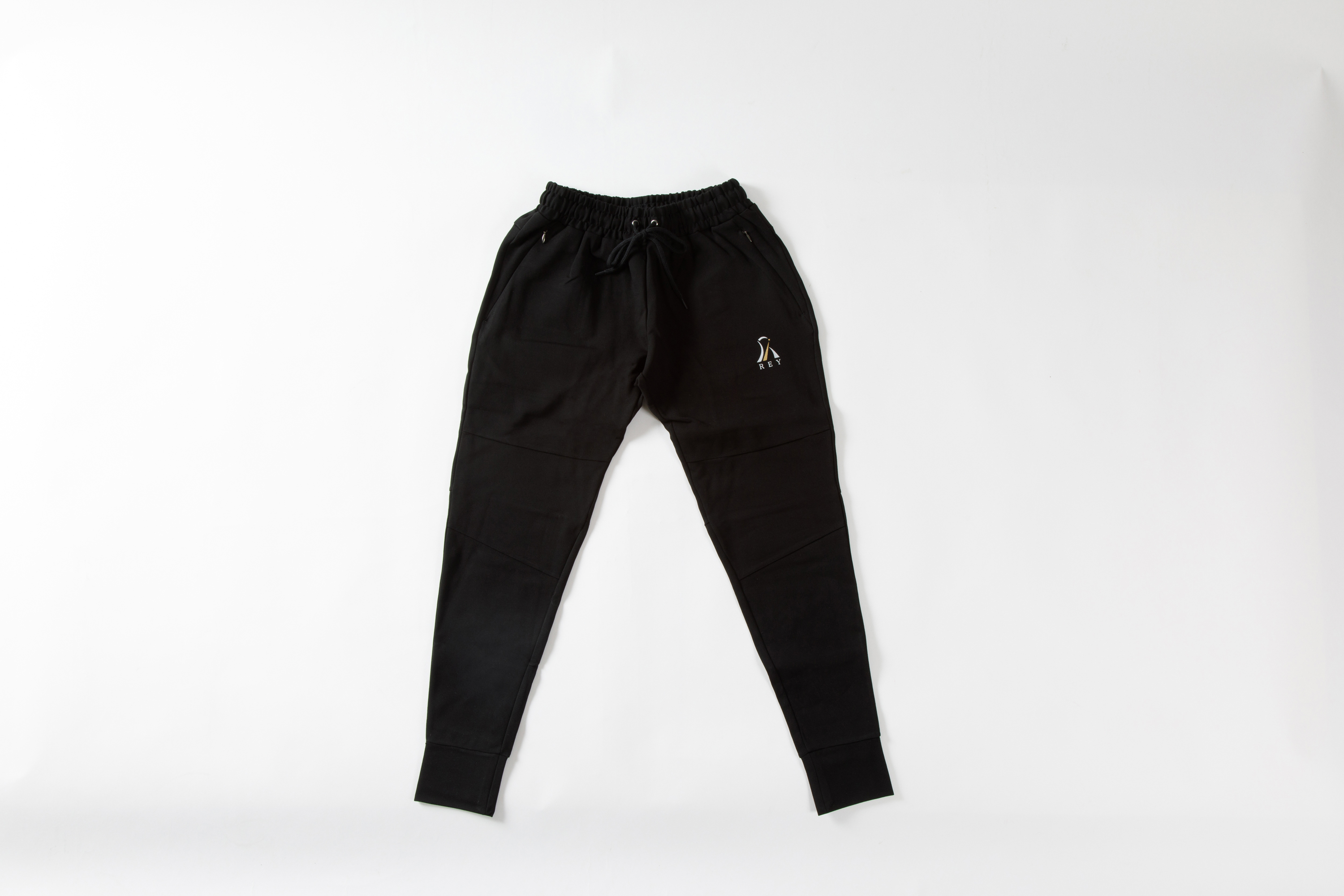 REY  ZIPPER PANTS   BLACK