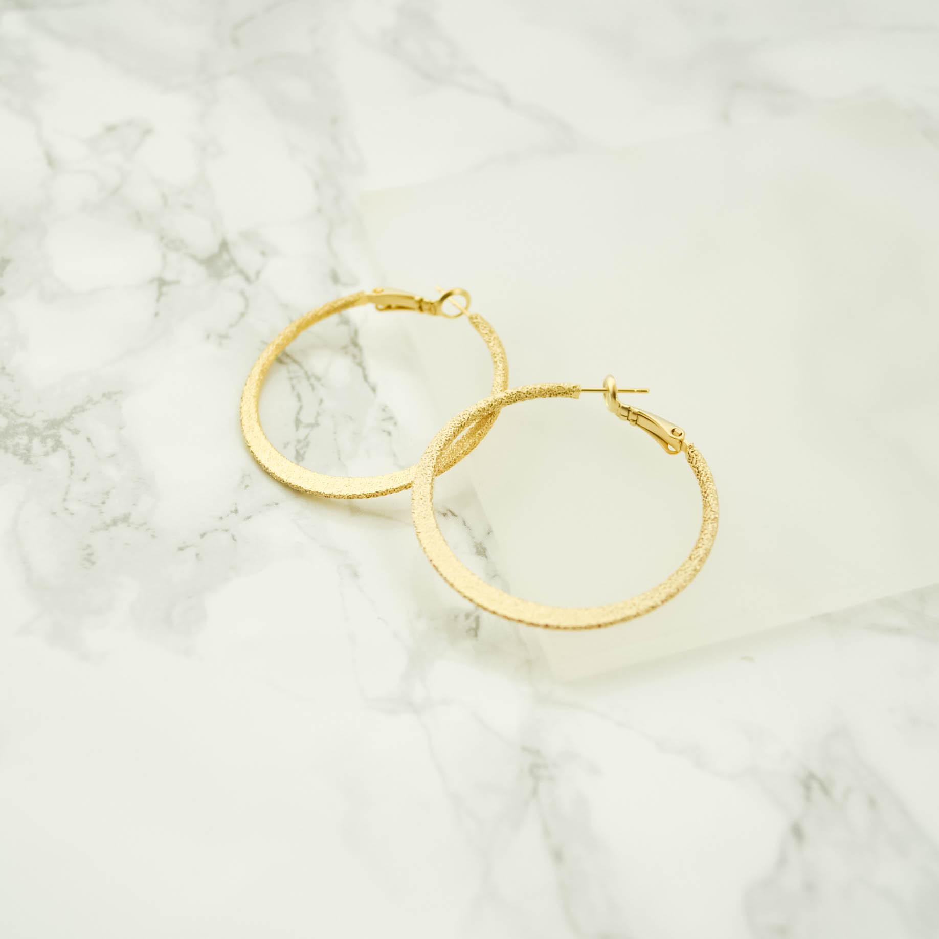 Stardust Hoop Pierces(gold)4cm