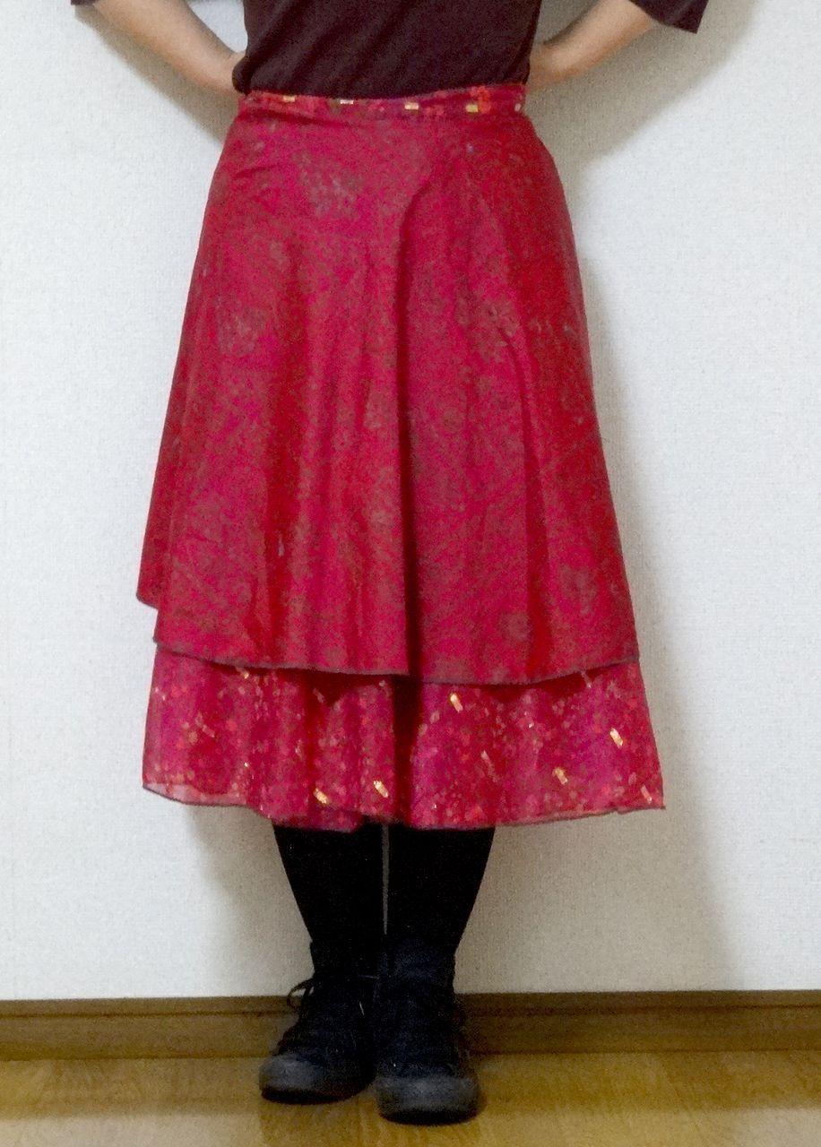 dss-029 シルクサリー巻きスカートショート