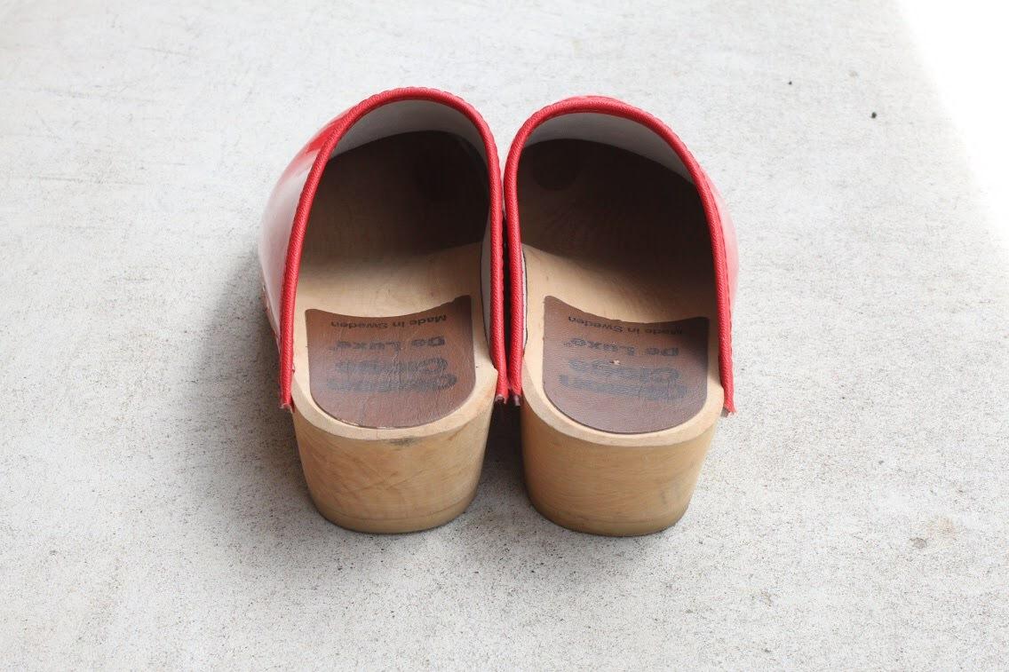 Vintage open-back clog
