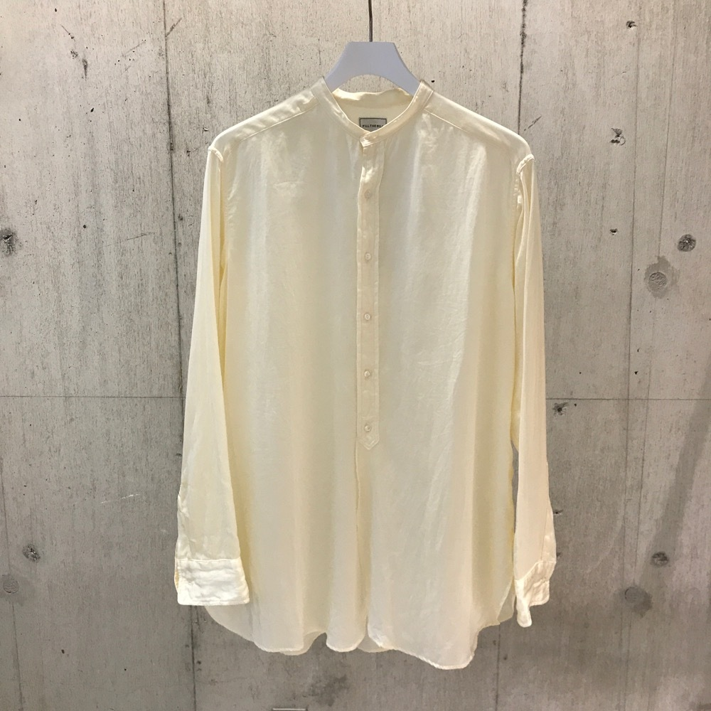 FILL THE BILL SILK COTTON BAND COLLAR SHIRTS NATURAL【WOMENS】