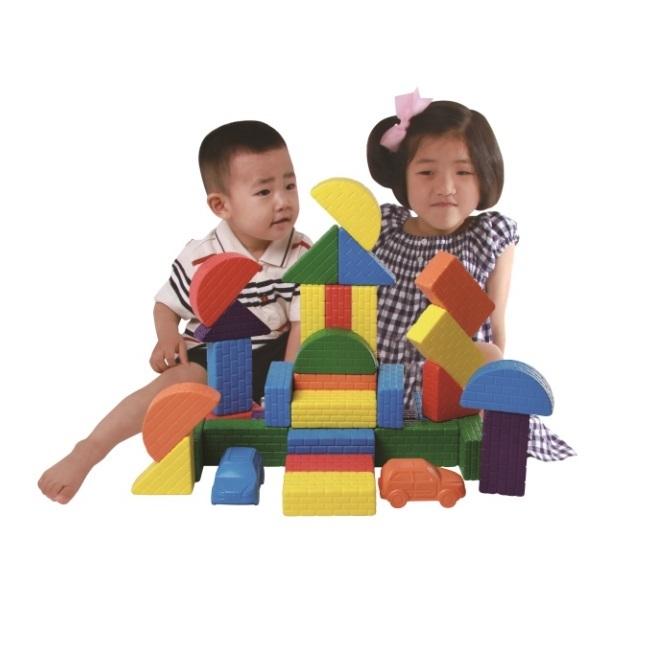 ぴたブロック(52ピース)柔らかいから安全、おすすめの大きいブロック