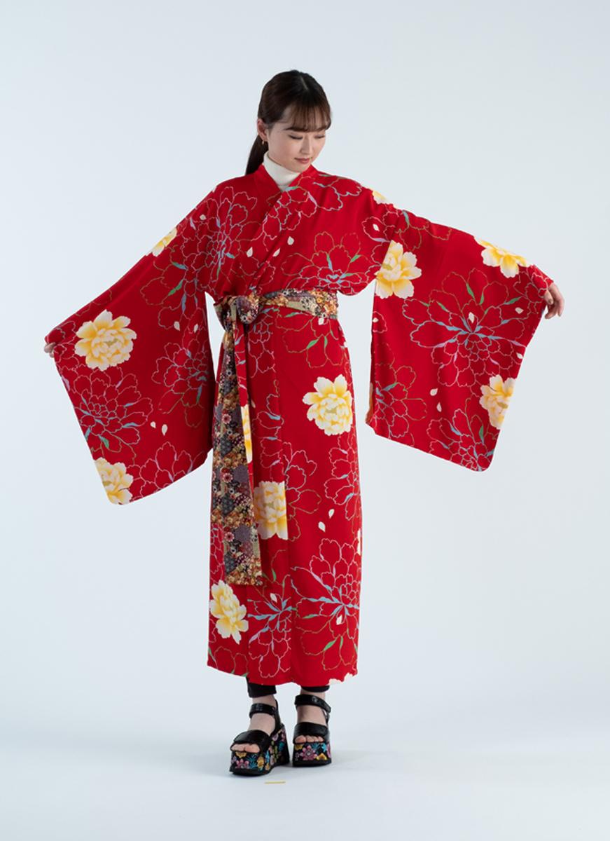 大輪の花模様 NEW KIMONO 着物