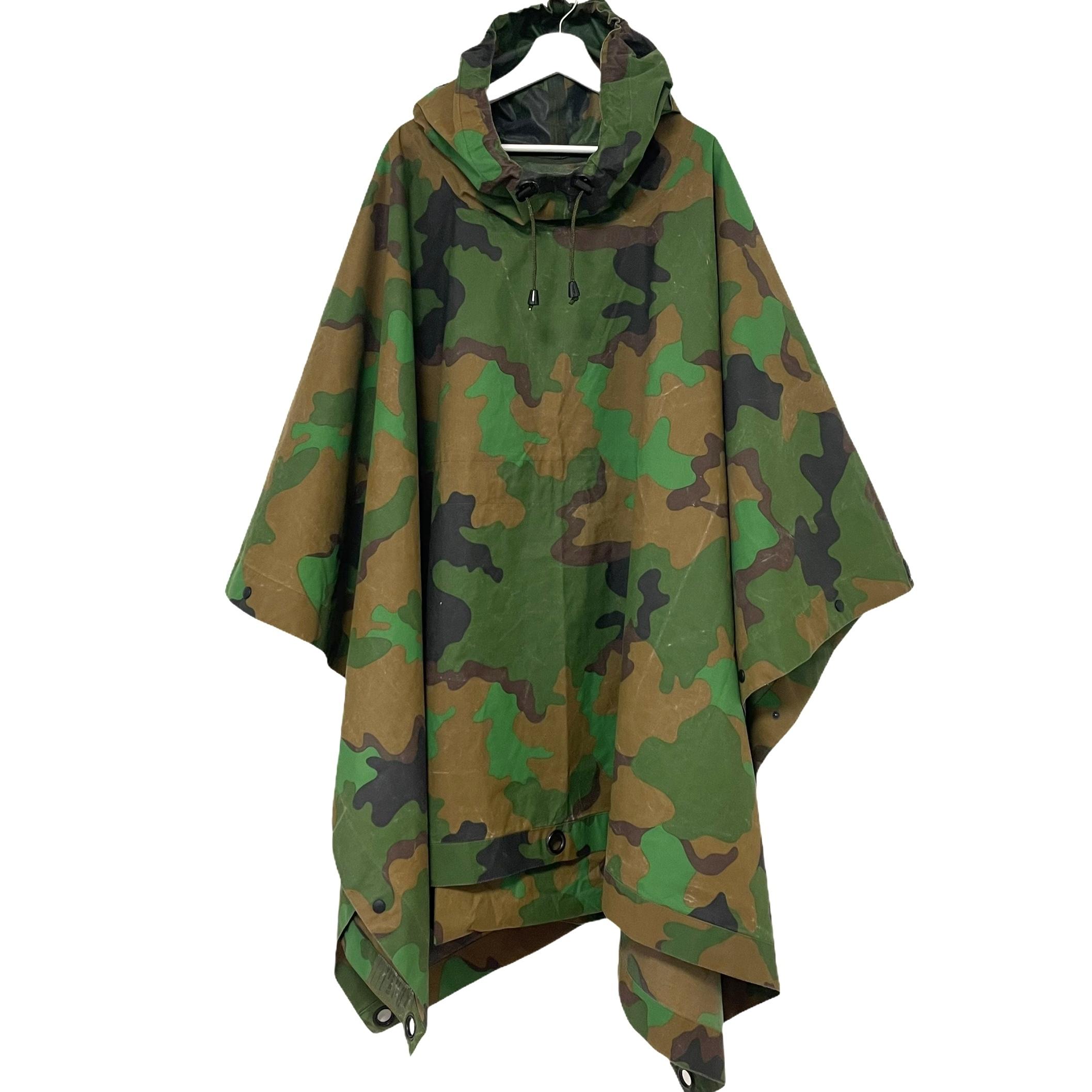 90's Dutch Army Packable Tropical Rain Poncho