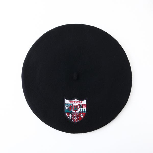 ワッペン付きバスク帽 BLACK(サイズ12 / 13.5) TDB-W-01