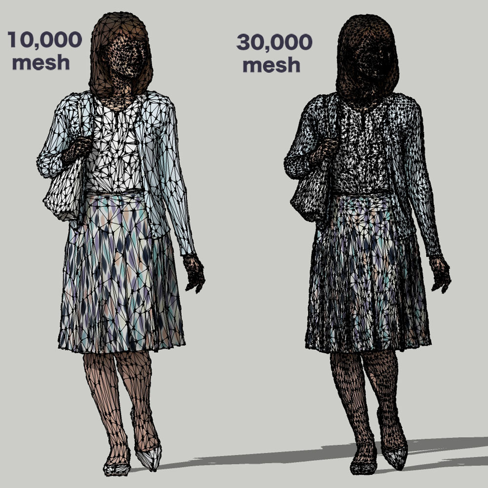 SketchUp素材 3D人物モデル ( Posed ) 019_Kana - 画像3