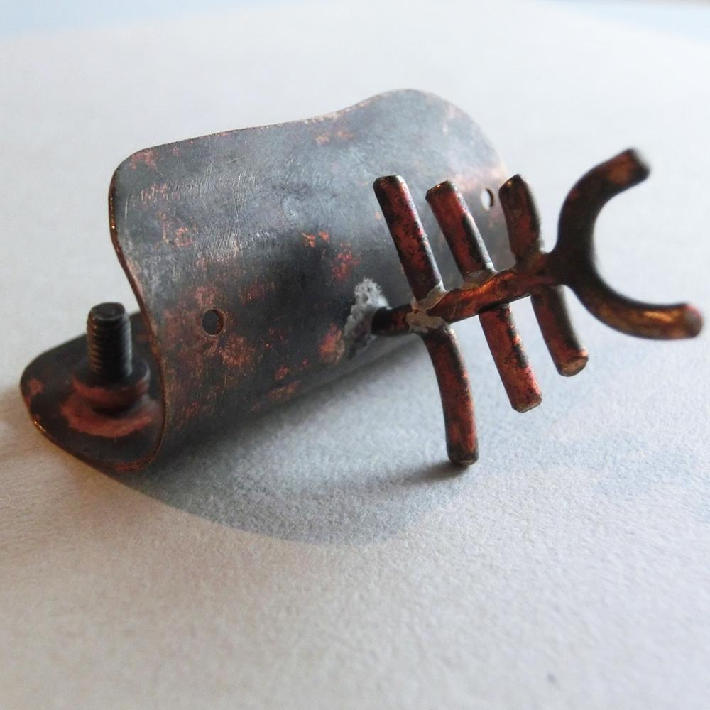 【メガマウスザメ】a        オーナメント 真鍮  #1390