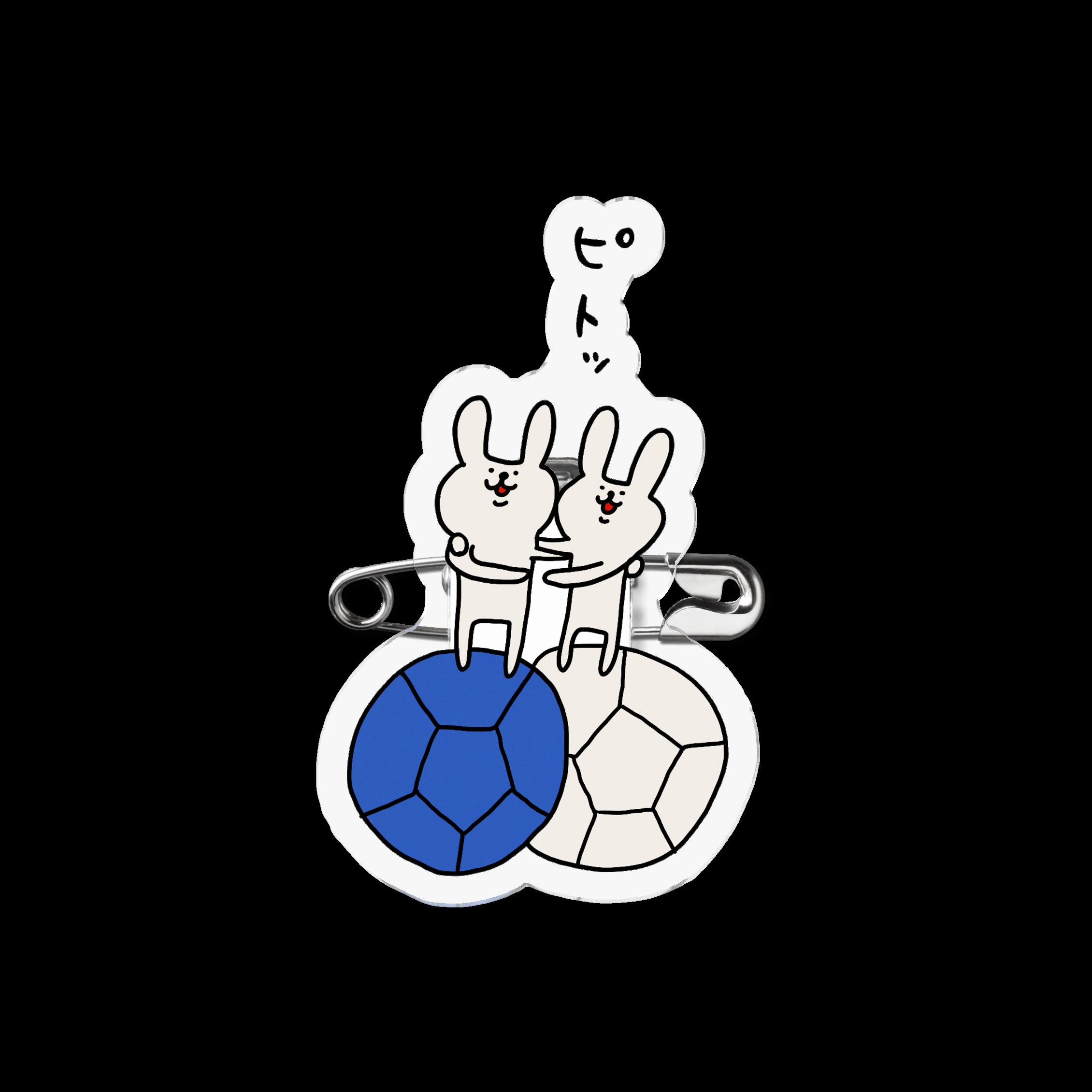 アクリルバッジ|ピトッ(青)