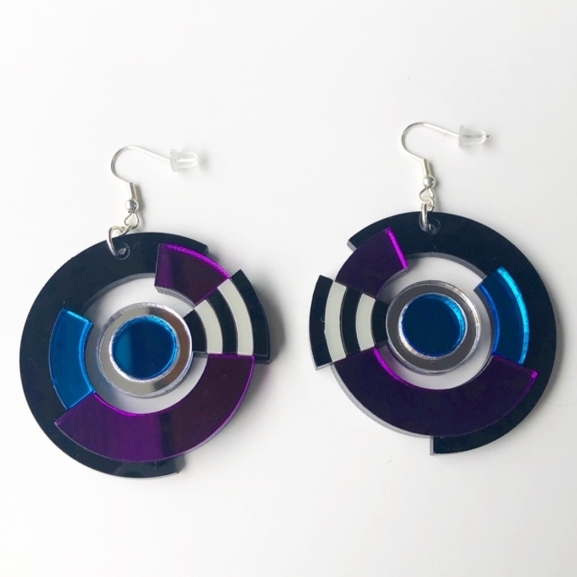 "MYSTIC FORMS  ""Geometric Perspex Statement Earrings "" ピアス"