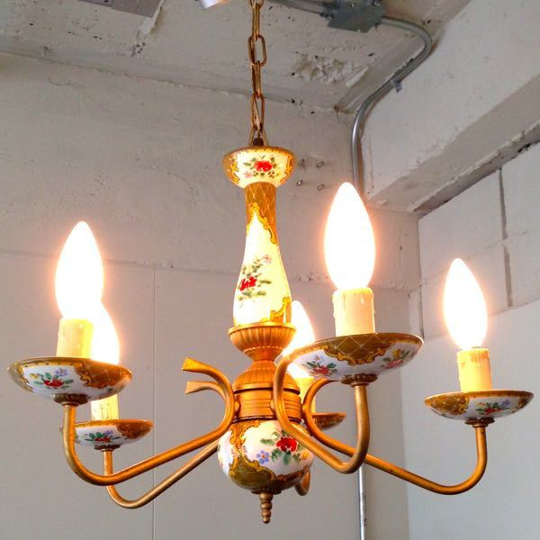 Vintage Italian Chandelier 5 candles