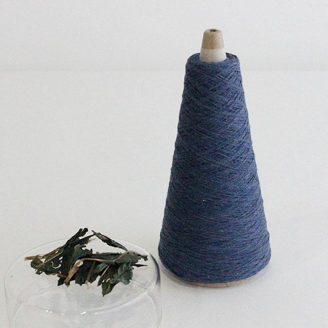 【天然草木染・藍染 (BL)】綿糸 (42g)