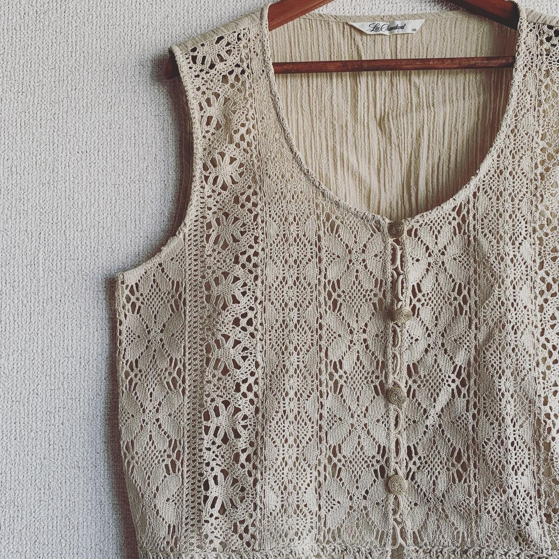 【SALE】vintage lace vest