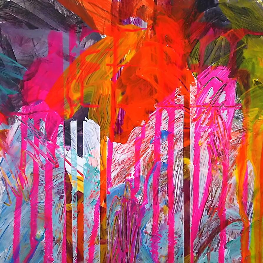 絵画 インテリア アートパネル 雑貨 壁掛け 置物 おしゃれ 抽象画 現代アート ロココロ 画家 : tamajapan 作品 : t-05