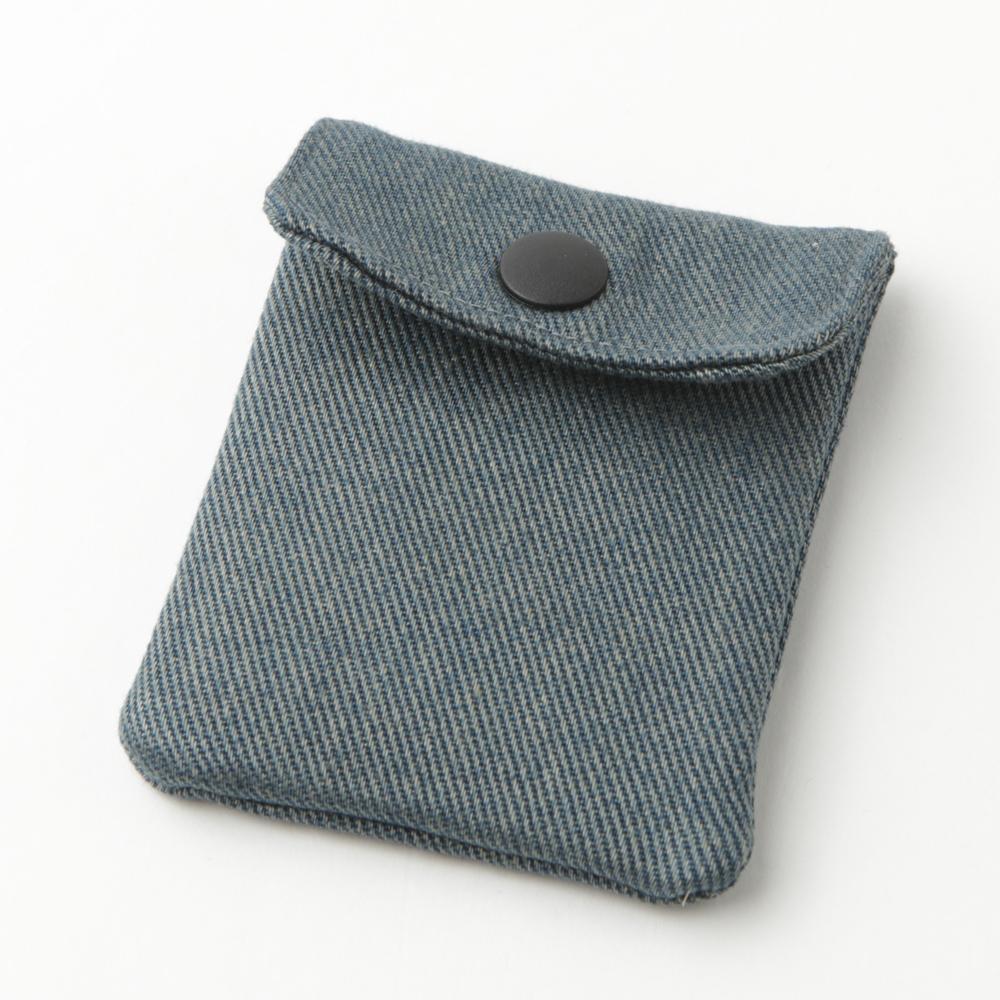 携帯灰皿 おしゃれ ヴィンテージ風 デニム ブルー系 48237 熟練職人のハンドメイド インナーリフィル合計2個付属 日本製