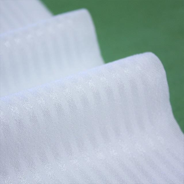 シルフィル紋えり 白色 紋綸子 縞柄