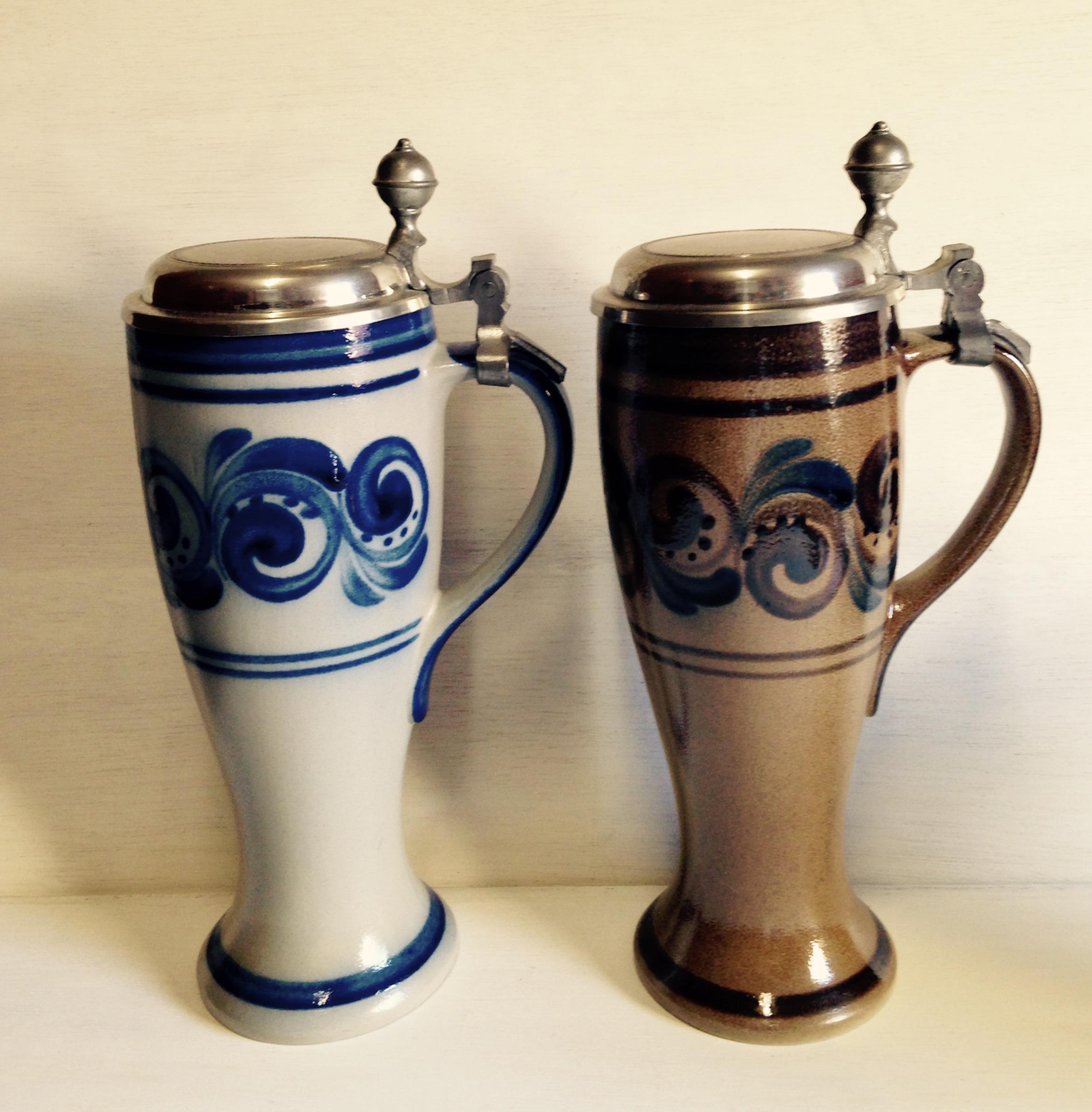 蓋付き陶器製ボトル フランス製