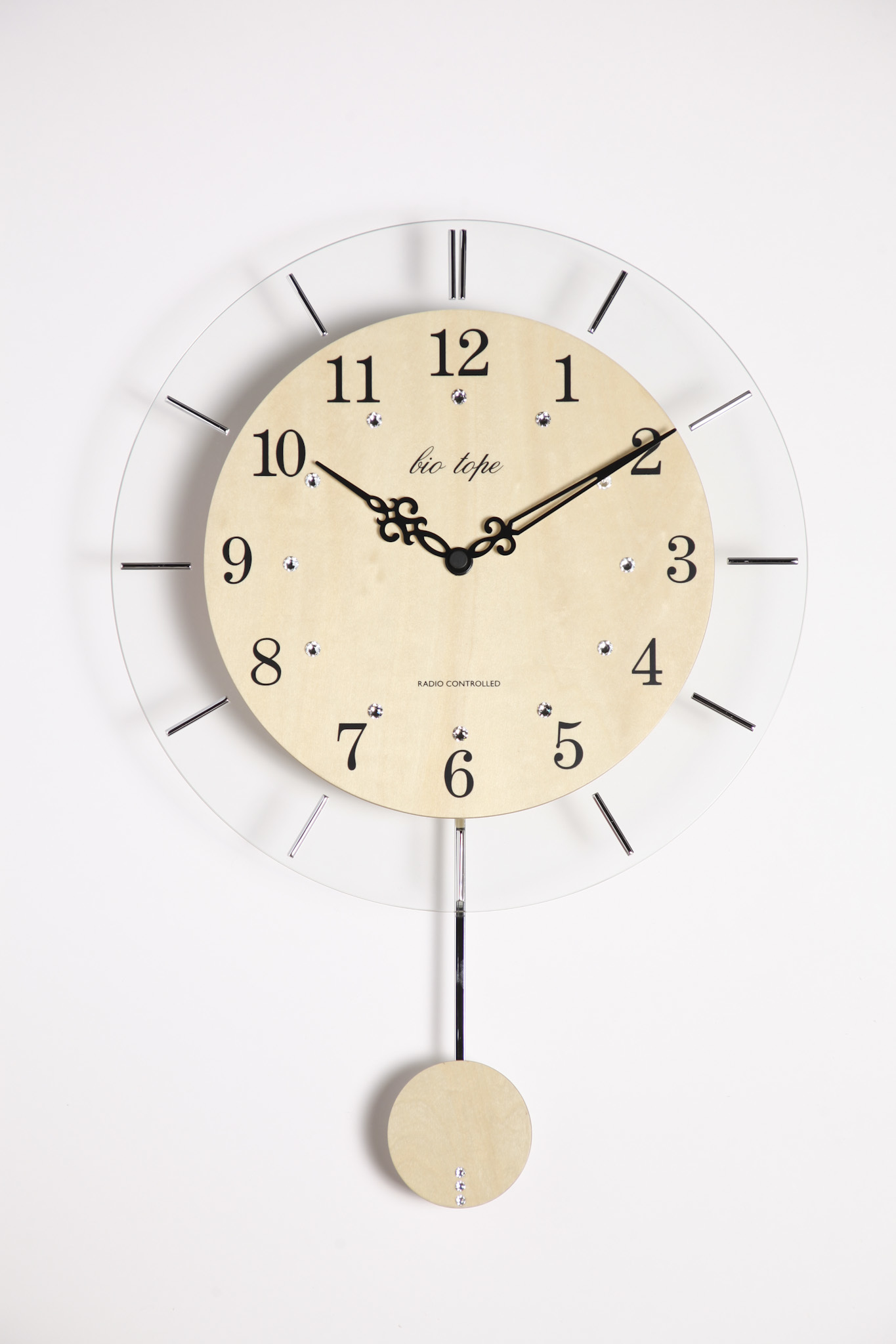 振り子時計 電波時計 電波スロー振り子時計 BIO-006 板尾工芸オリジナル - 画像2
