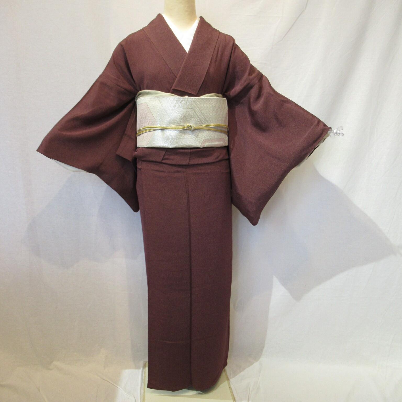 夏用単衣江戸小紋1445と佐賀錦袋帯4点セット