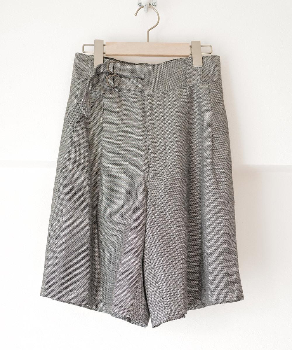 Double belt half pants