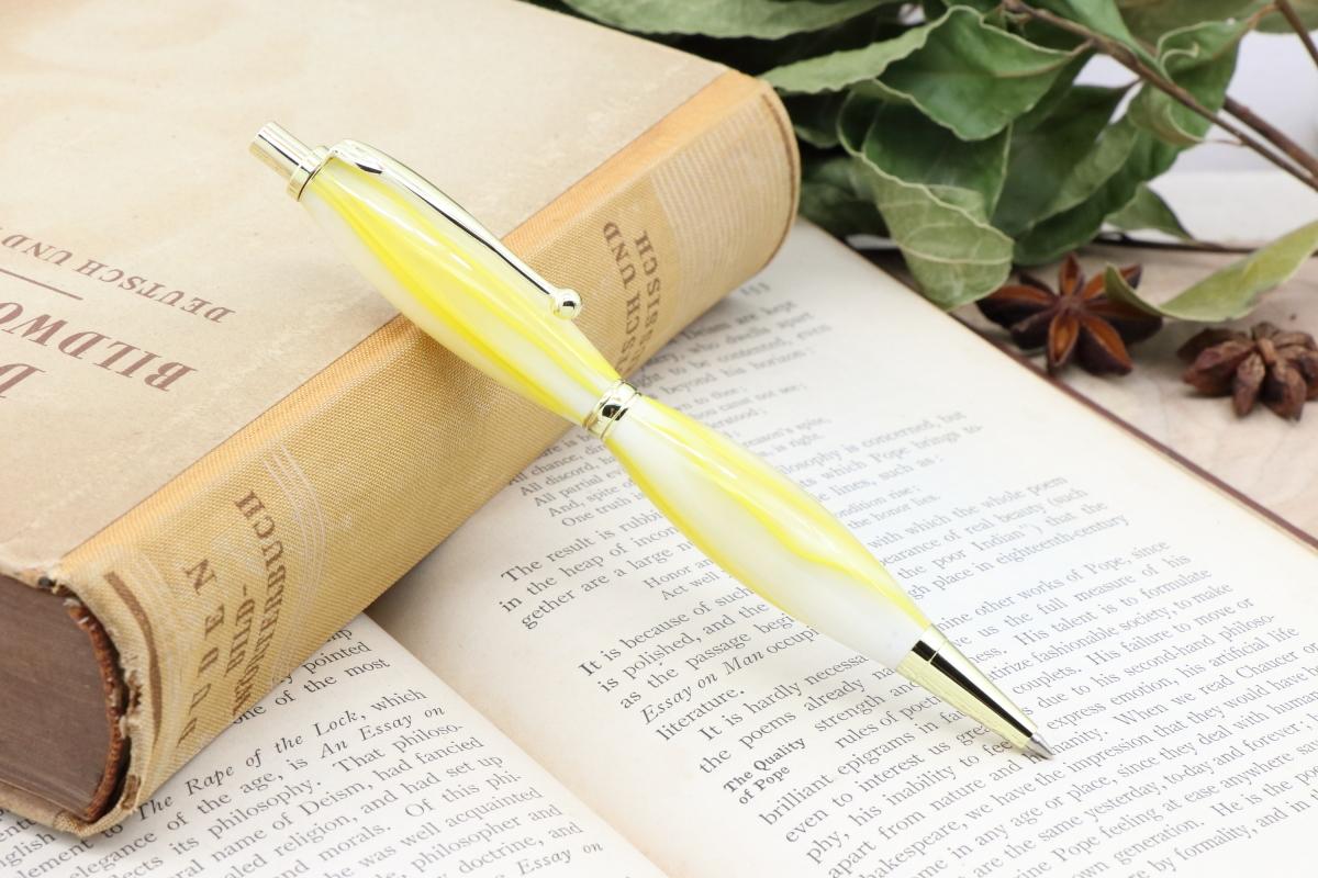 受注生産「アクリルNo25 レモンピール FLP」Viriditas手作りシャープペンシル0.7mm♫ネット限定価格