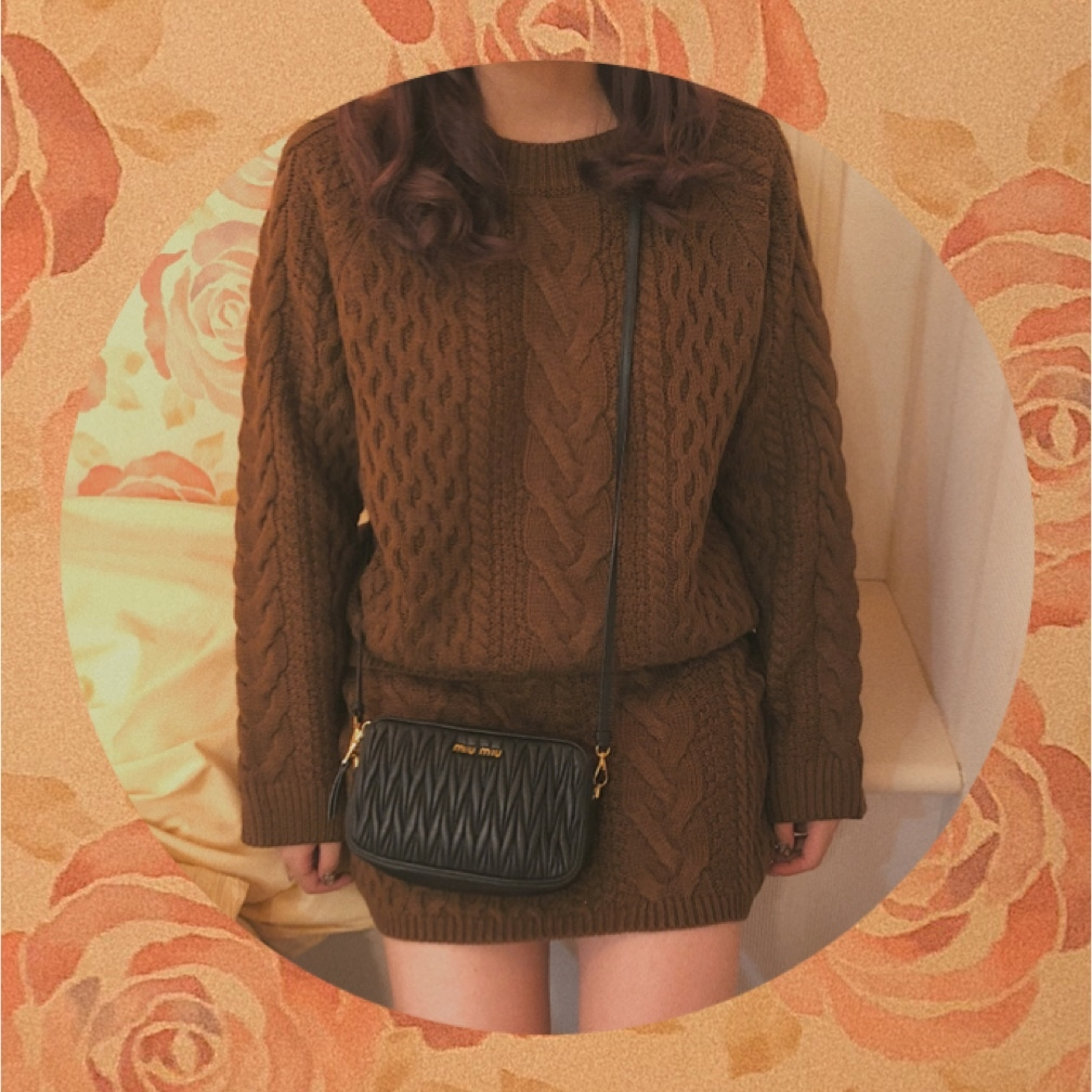 ♡knit setup (brown)