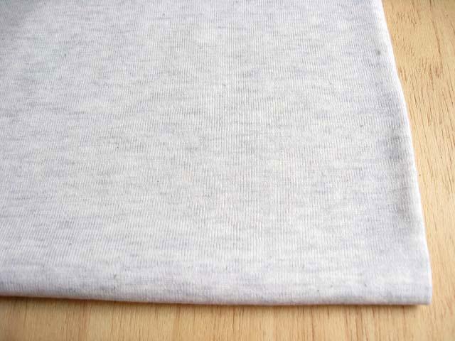 J&B定番 綿コーマ糸フライスニット 杢オートミール #95 NTM-2387