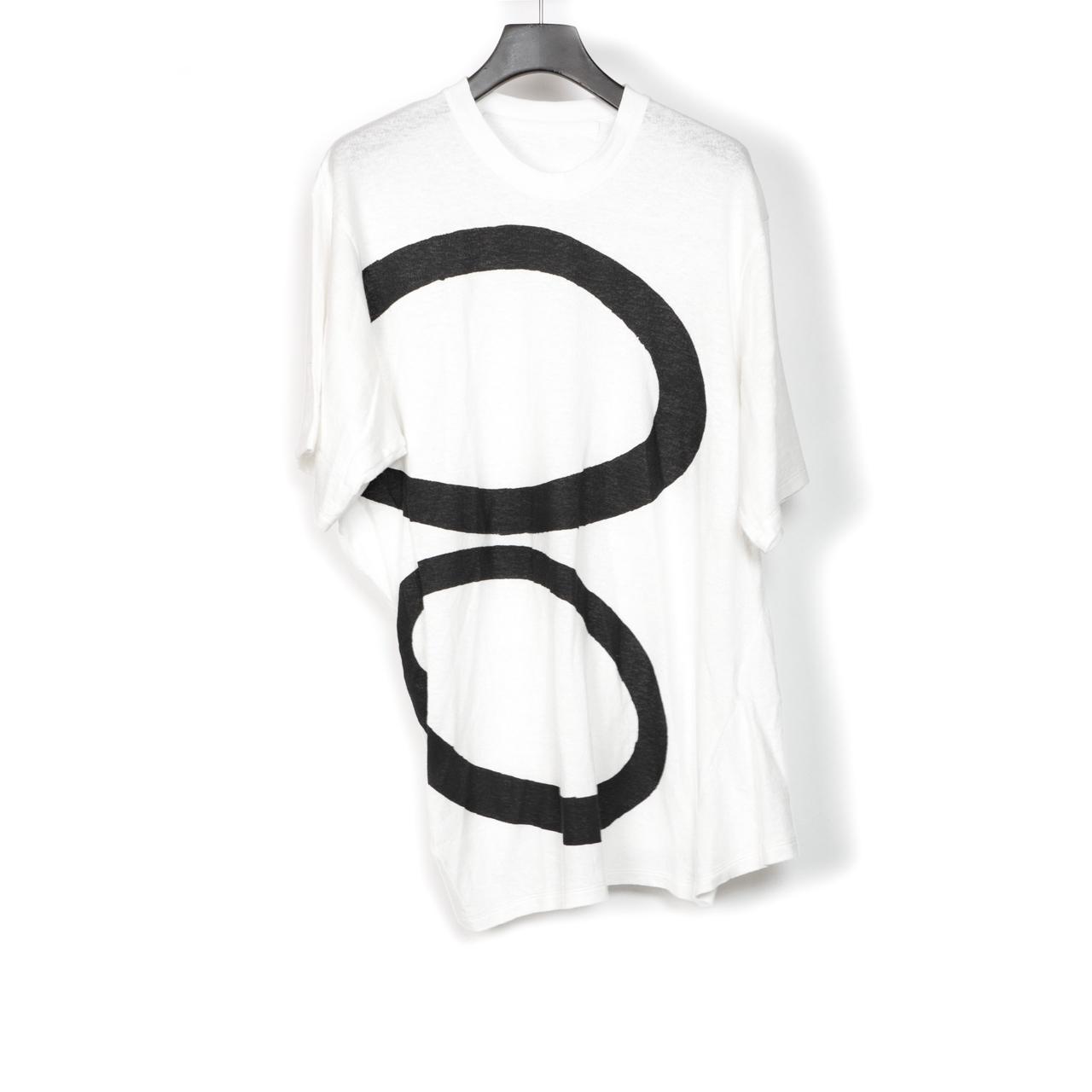 697CUM10-P-WHITE / サイドドレープ Tシャツ