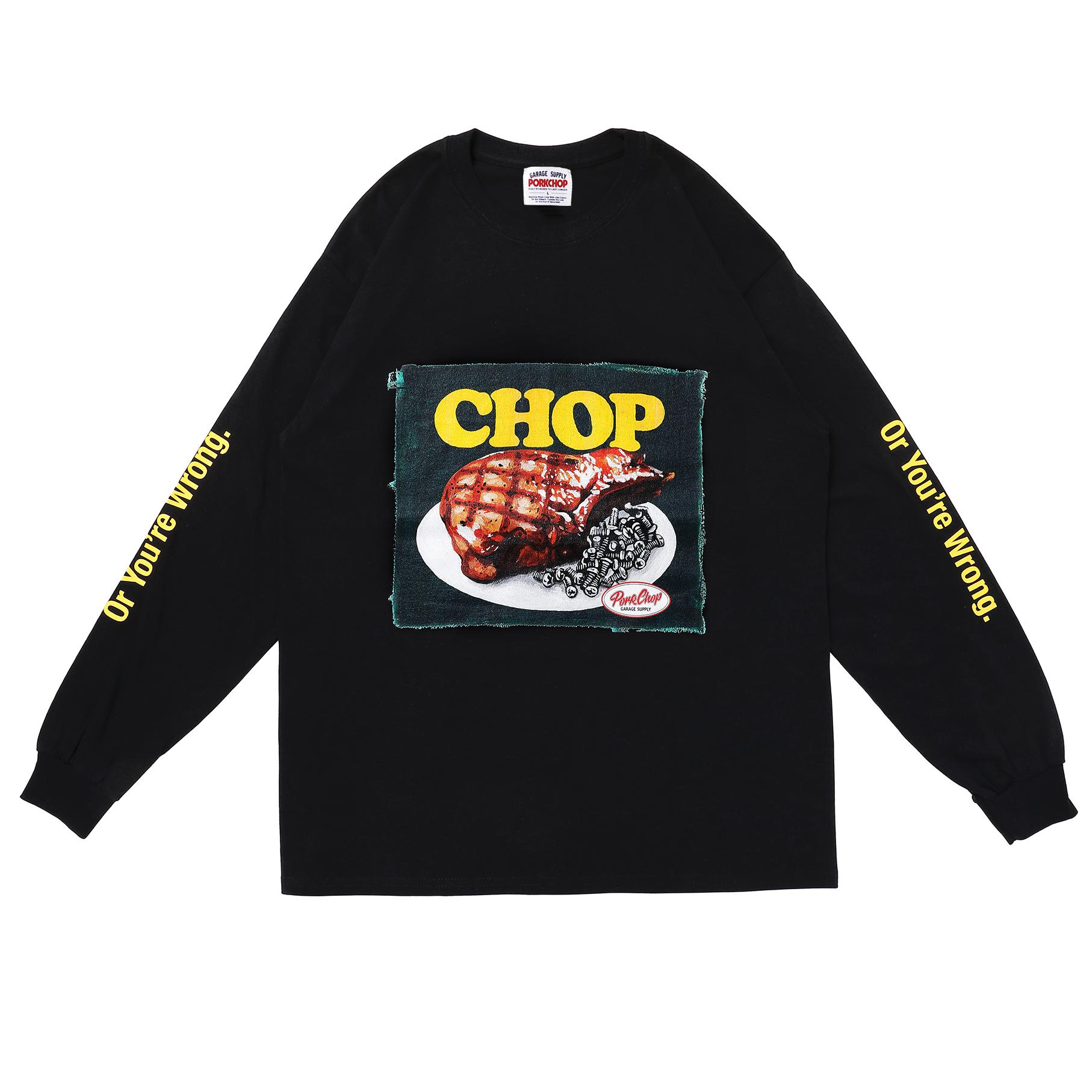 CHOP L/S TEE/BLACK