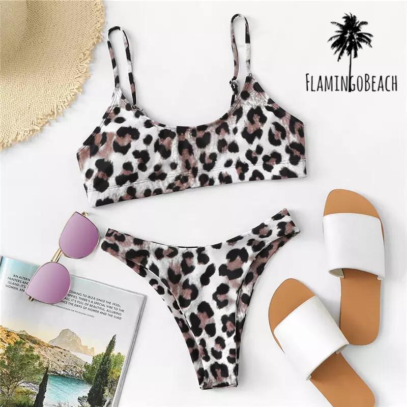 【FlamingoBeach】leopard brazilian bikini レオパードビキニ