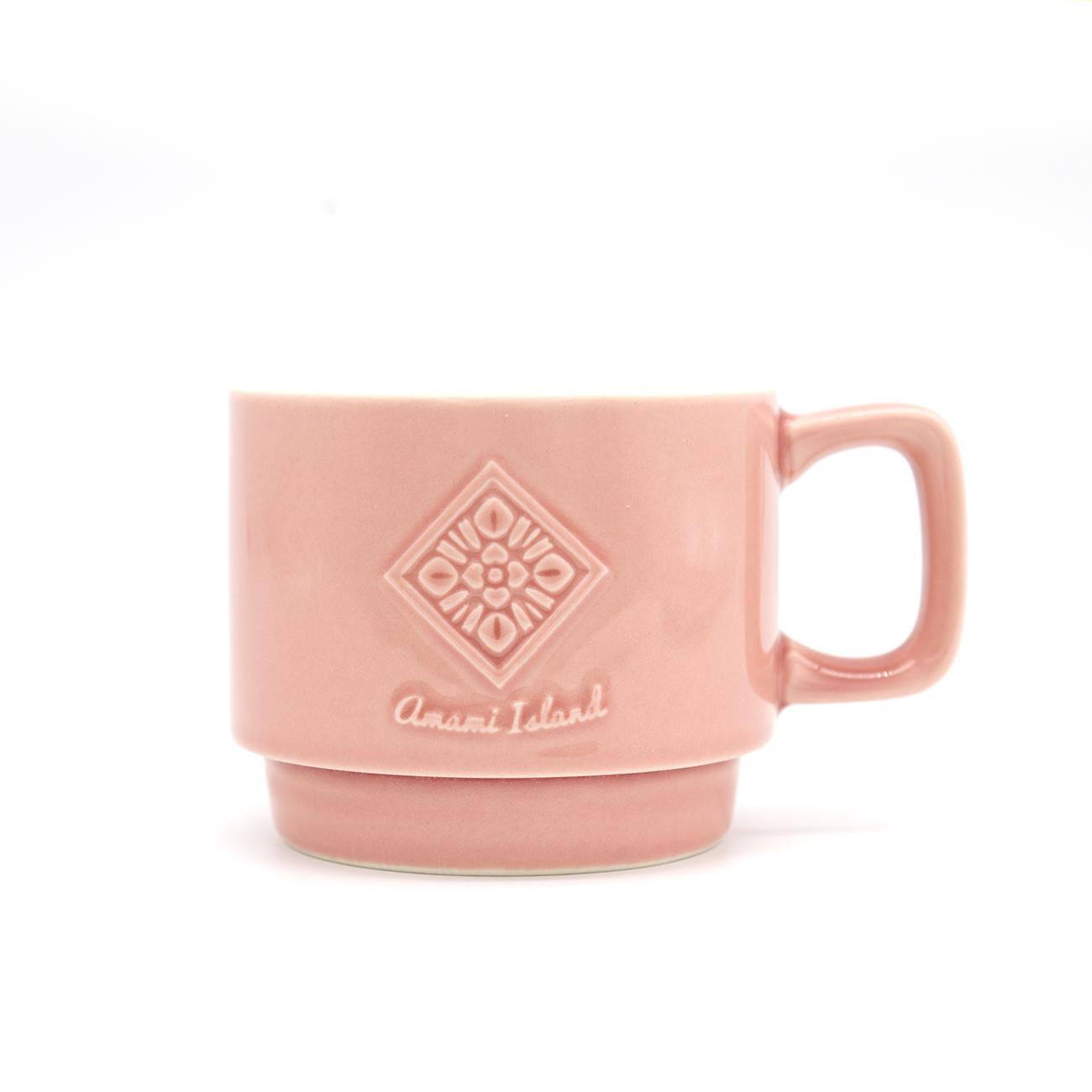 オリジナルマグカップ | ピンク | 紬柄