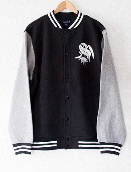 【STAY SICK CLOTHING】Goon Squad Varsity Jacket (Black/Gray)