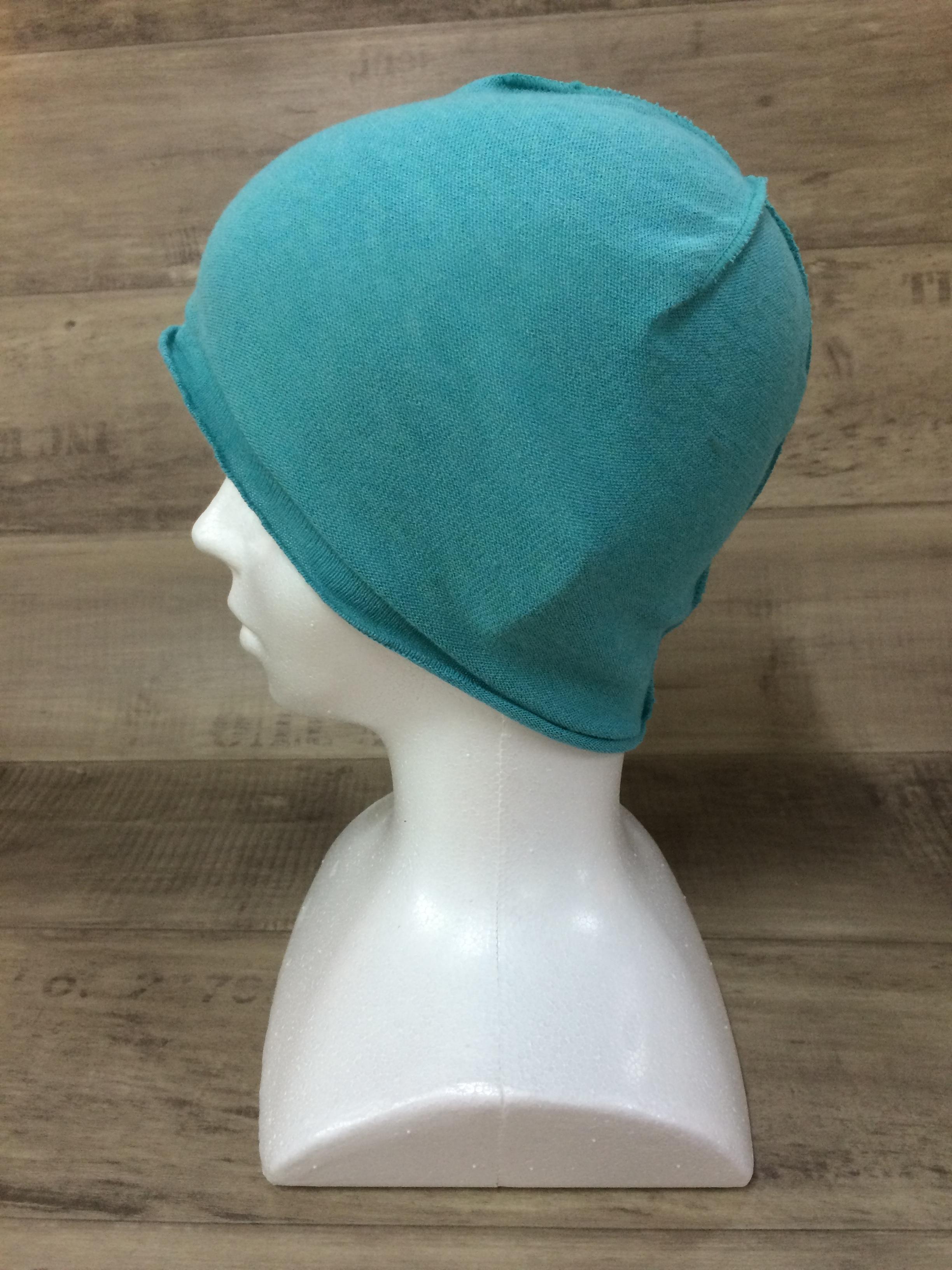【送料無料】こころが軽くなるニット帽子amuamu|新潟の老舗ニットメーカーが考案した抗がん治療中の脱毛ストレスを軽減する機能性と豊富なデザイン NB-6057|ソーダ <オーガニックコットン インナー>