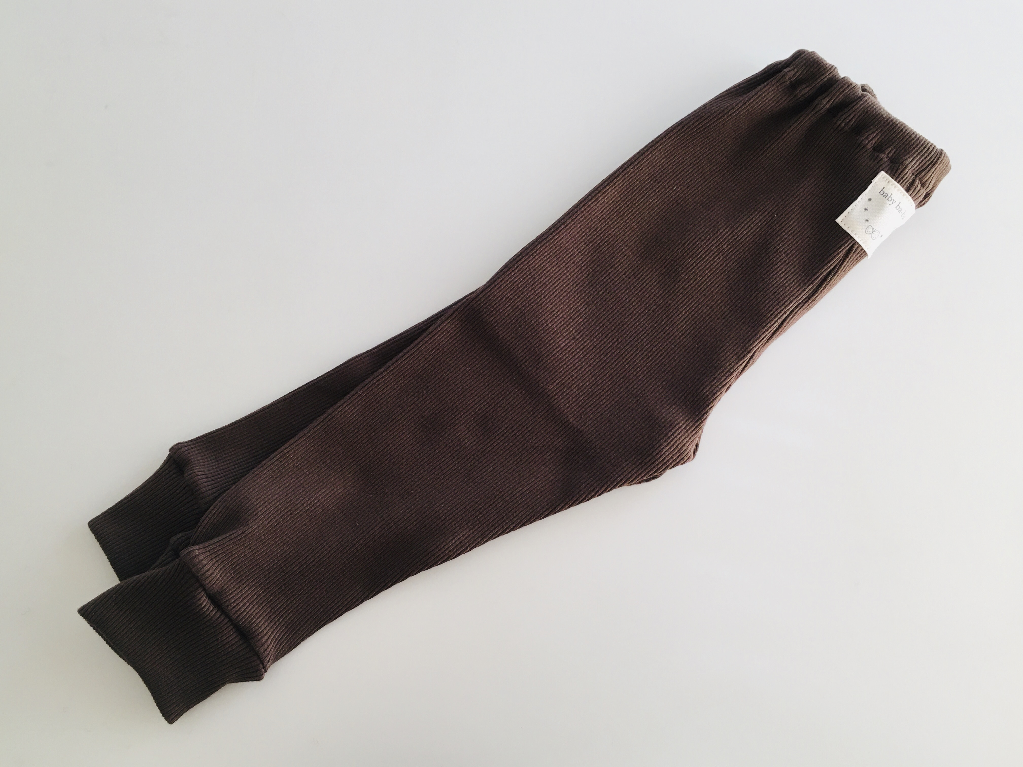 リブ素材スパッツこげ茶色80cm