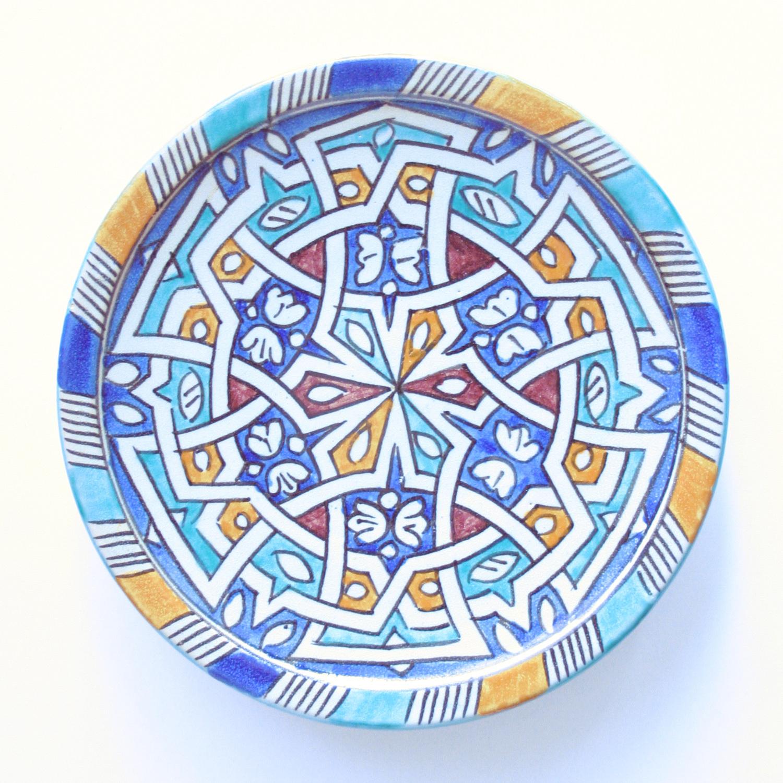 プレート皿/37b/フェズ/MOROCCO モロッコ
