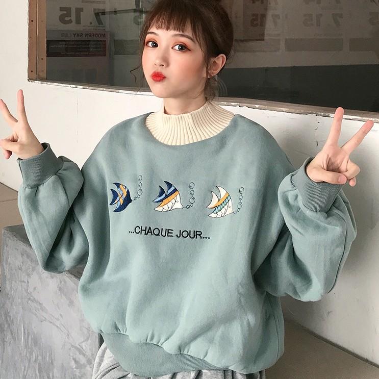 【tops】人気商品配色カジュアルパフスリーブパーカー24927546