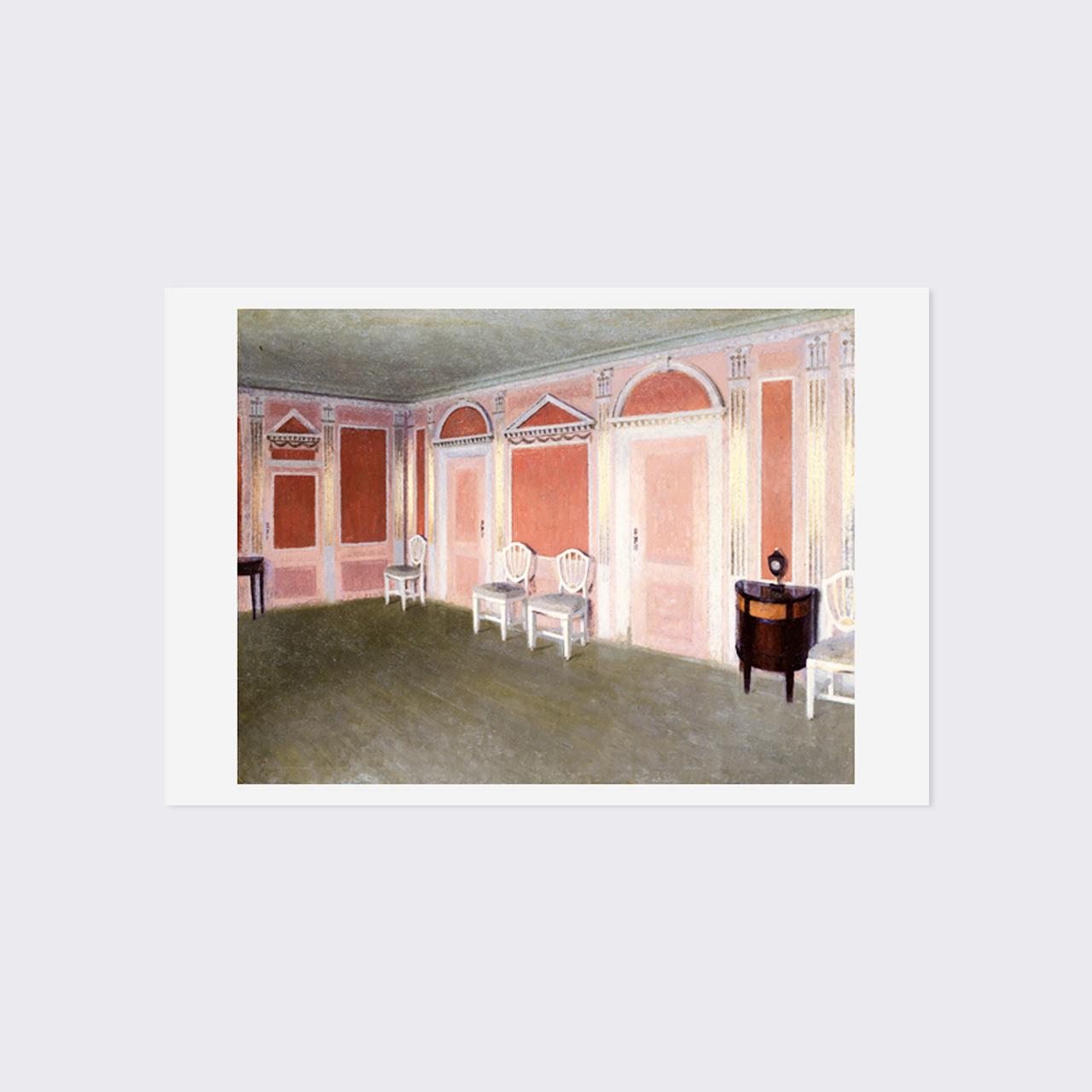 ハマスホイ ポストカード 「室内、ラーベスク・アリ」