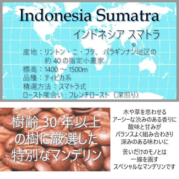 インドネシア スマトラ 200g <フレンチロースト>
