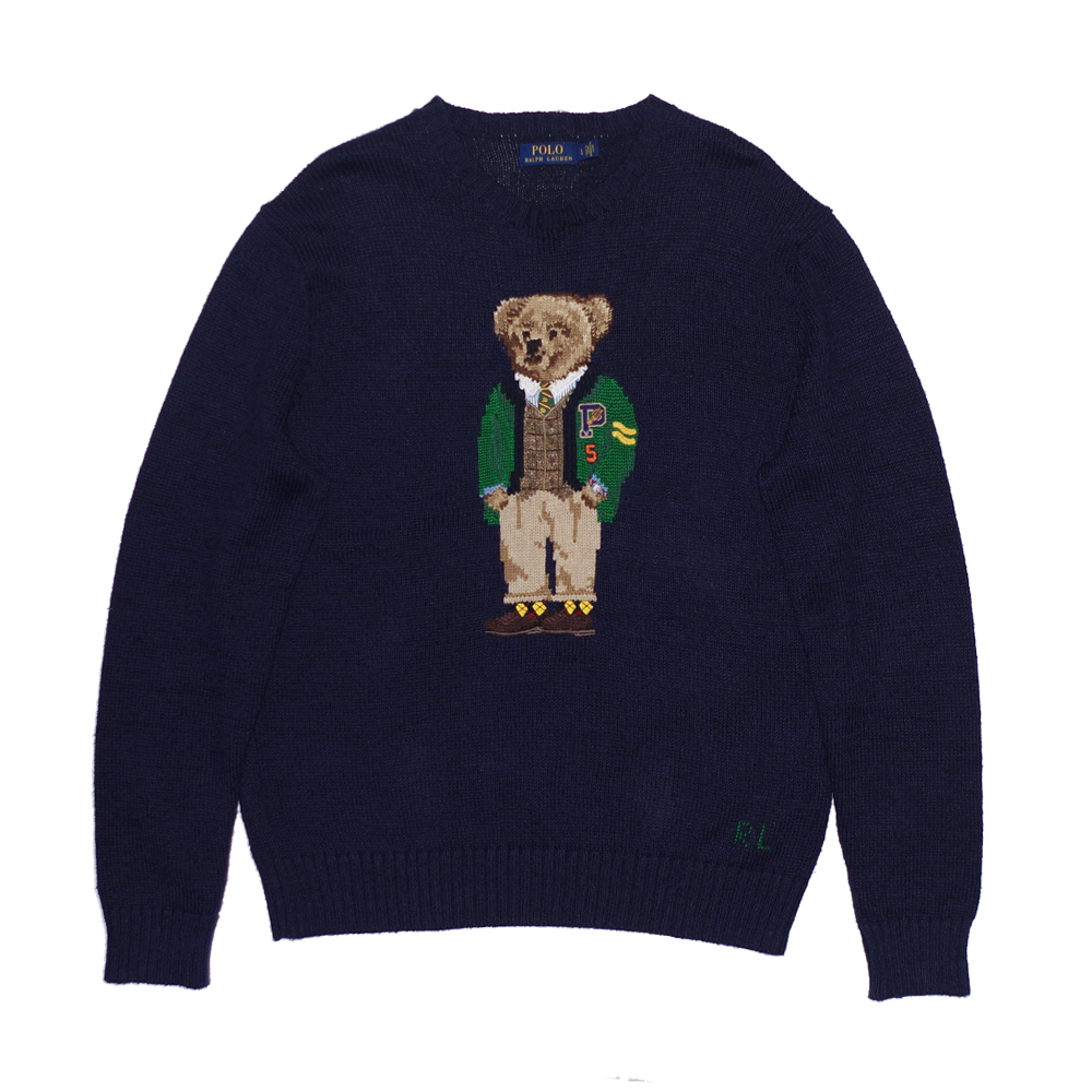 POLO RALPH LAUREN Polo Bear Knit Sweater NAVY