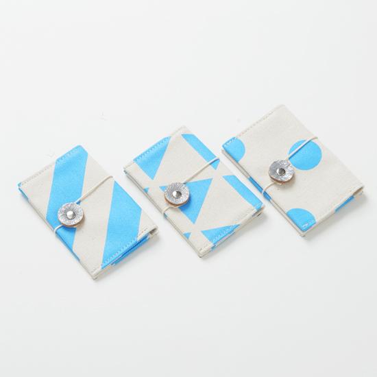 business card case/sky/stripe, scale, dot カードケース / 空 x 縞・鱗・水玉