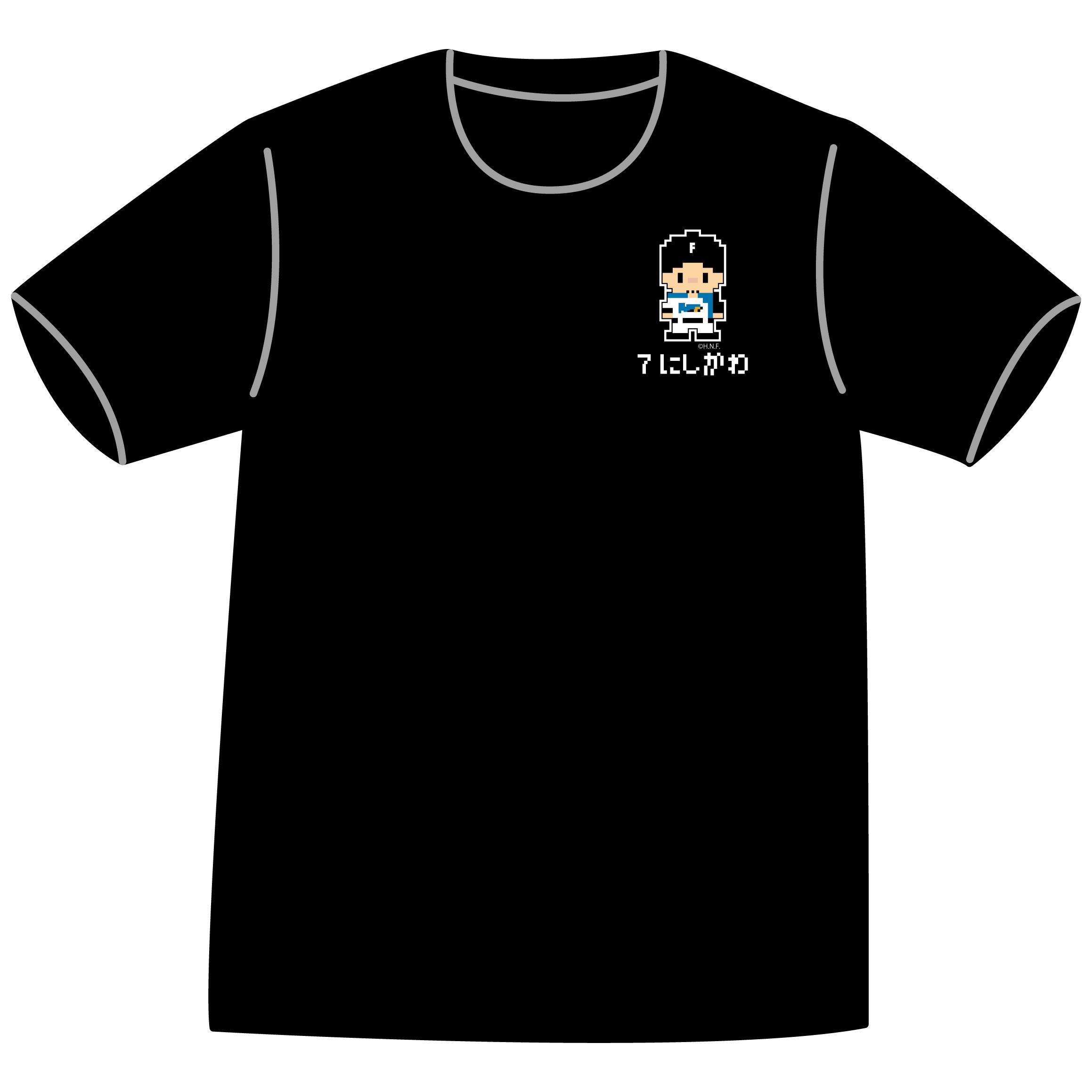 ドットファイターズ 「にしかわ」 Tシャツ ブラック