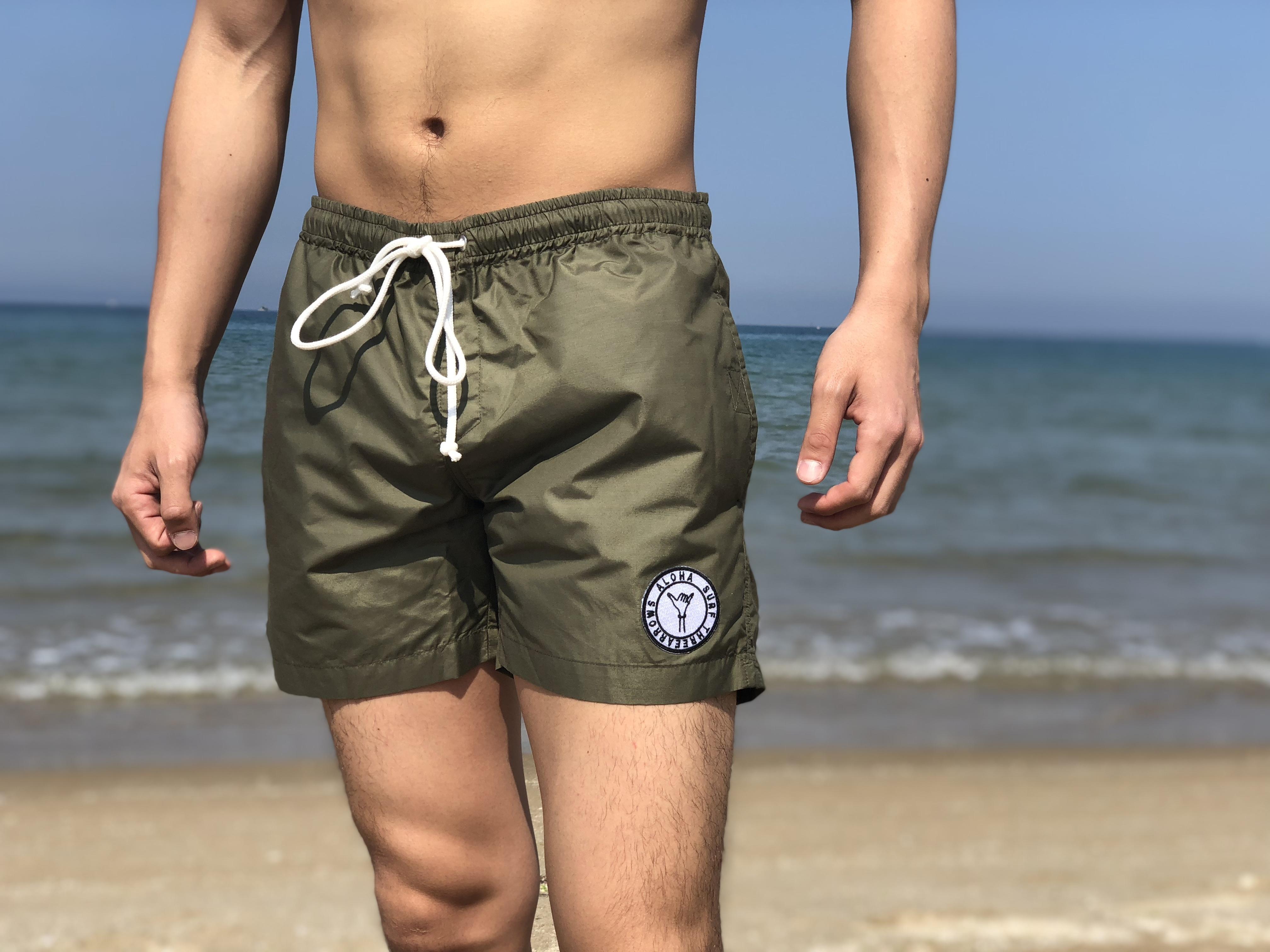 【7/13 0:00 ReStock 送料無料】ALOHA SURF Board Shorts(khaki)
