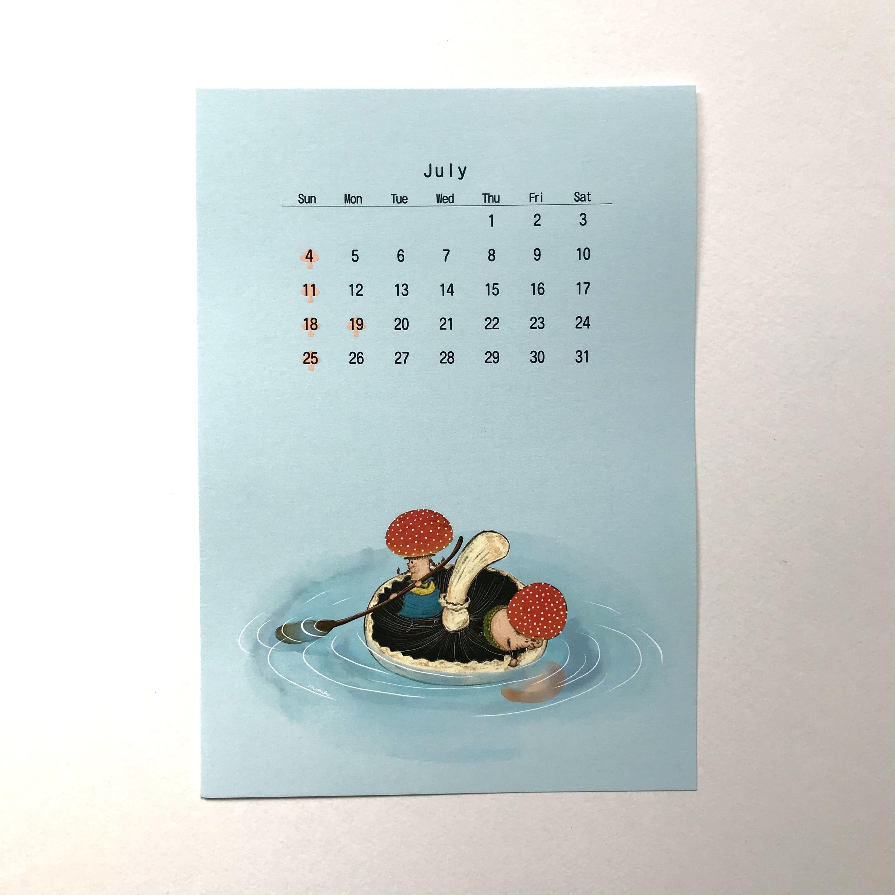 2021年きのこカレンダー『Mushrooms Calendar 2021』