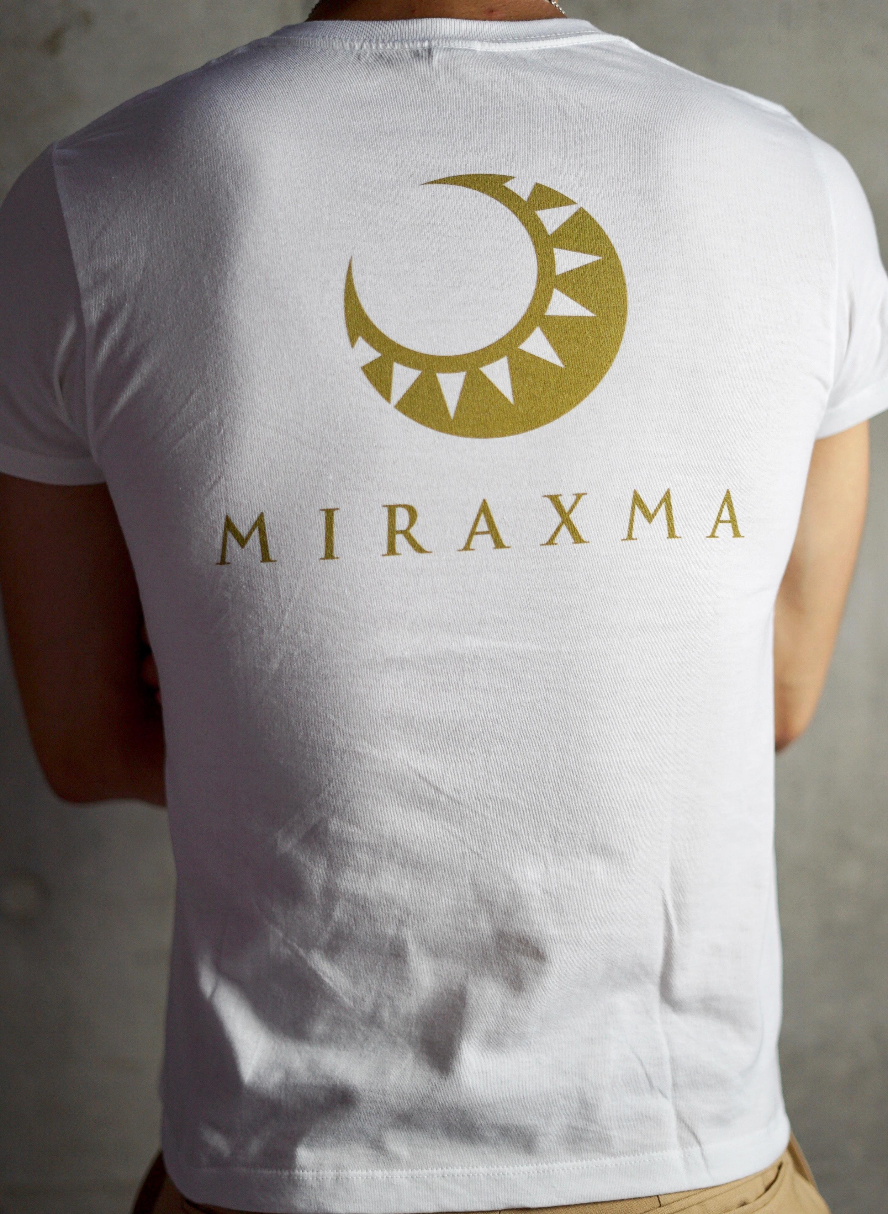 【限定モデル】半袖/ホワイト/背中ゴールド | MIRAXMA-ミライイマ-